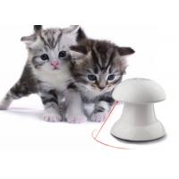 Quality Automatic Rotating Cat Laser Toy In White Color With 4 Speed / Time Setting for sale