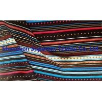 Buy cheap Stripe Printed 32S Rayon Poplin Fabric 105GSM 140CM Rayon Dress Fabric from wholesalers