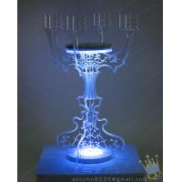 Quality CH (2) clear Acrylic long stem candle holder for sale