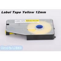 Quality Wire Marking Label Maker Tape Laminated Industrial Customized , Yellow for sale