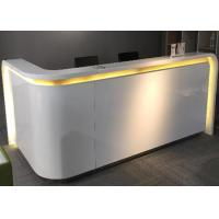 Quality Flat Surface MDF Painting Retail Store Cash Register Display Counter With Lighting for sale