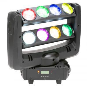 Quality 8w x 10w Single White Lumin LED Disco Lights Beam Effect Light ADJ Crazy 8 for sale