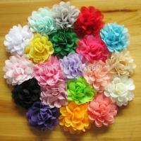 Quality 5cm satin chiffon flowers for baby girls headbands hairband hair ornaments children hair a for sale