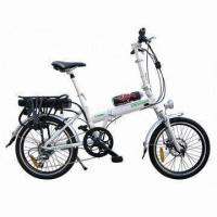 China Rack Battery Alloy Frame Folding Electric Bike with Suspension Fork and Front/Rear LED Lights on sale