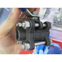 Heavy MANUAL 3PC Carbon Steel Ball Valve B/W end handle with lock for sale
