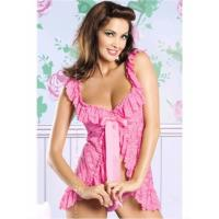 Quality U.S. and European factory direct supply sexy lingerie large size XL special size sleepwear lace M,XL XQ2009pink for sale