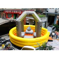 Quality Yellow Large Inflatable Games / Wrecking Ball Inflatable Bouncy Castle for sale