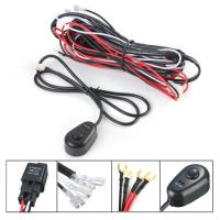 Quality 12V 24V Switch Relay Wiring Harness Kit Remote Control 2 Lamp Light Bar for sale