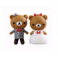 Buy cheap cartoon bear pendrive bride groom pen drive 4gb usb flash drive  memory stick wedding gift from wholesalers