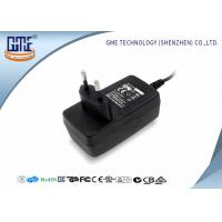 Quality 1.25A Audio Switching Power Adapter EU Plug Black 90V - 264V AC With Low Ripple for sale