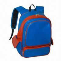 Quality PVC Leather School Backpack with 3 Compartments, 2 Side Pockets for sale