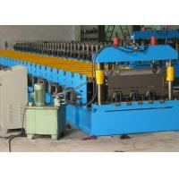 Quality Floor Galvanized Steel Decking Panel Roll Forming Machine PLC Control System for sale