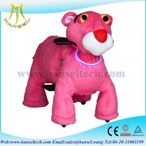 Quality Hansel motorized plush riding animals animal rides walking animal rides for sale