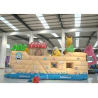 Quality Elephant Animals Pirate Ship Inflatable Water Slide , Children Pirate Jump House for sale