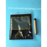 Quality Custom LOGO fashion cigarette zipper lock moisturizing fresh plastic bag with transparent windows for sale