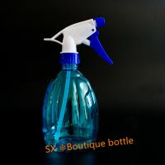 Cheap garden custom350ml clear boston round   mini trigger top PET bottles