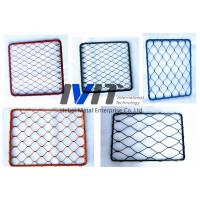 Quality blue epoxy ferruled and knotted ss rope mesh for sale