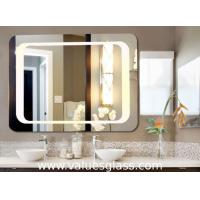 Quality Wall Mounted Defogging LED Bathroom Mirrors 3-6mm Thickness With Touch Button for sale