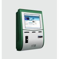 China Wall Mounted Kiosk With Touch Screen / Cash coin acceptor / Card Reader / Card Dispenser on sale