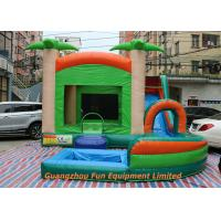 Quality Red Commercial PVC Tarpaulin Inflatable Water Slide With Pool Size 7 * 5m for sale
