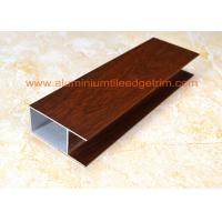 China Modern Type Aluminum Window Frame Extrusions Smooth Edges Wood Grain Color on sale