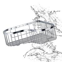 Buy cheap Bathroom Accessory Corner Basket Shelf Stainless Steel Easy Installation from wholesalers