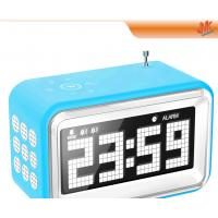 Quality Digital Mini Speaker MP3 / Computer Electronic Calendar Clock With Alarm / Radio for sale