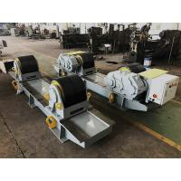 Quality 60 Ton Bolt Adjustment Pipe Welding Rollers,Oil Tank PU Wheel Tank Turning Rolls for sale