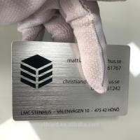 Quality Colorful  Anodised Aluminium Business Cards  Brushed Finished Etched  Carving for sale