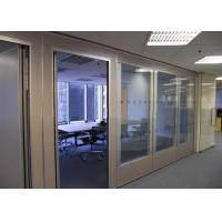 Quality Office Glass Partition Walls , Sliding Glass Partitions For Exhibition Centers for sale
