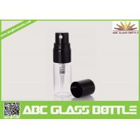 Buy Hot Sale Mini Black Pump Cover Glass Bottle 5ml Perfume Spray Clear Bottle at wholesale prices