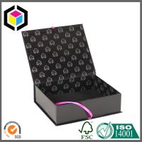 Buy Black Color Printed Hair Extension Packaging Box; Luxury Gift Paper Box at wholesale prices