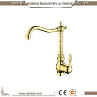 China 89246G Modern Elegeance Shape Classic Design Luxury Brass Kitchen Faucet Sink Tap With Good Braided Hose on sale