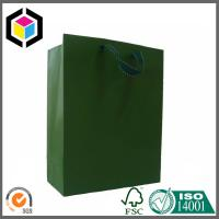Quality Metallic Paper Shopping Bag with Rope Handle; Custom Embossed Logo Paper Bag for sale