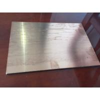 Buy Brushed Copper Composite Panel 2000mm Length High Intensity For Ceiling at wholesale prices