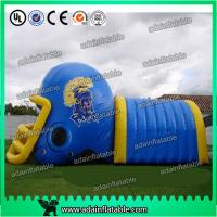 Buy Colorful PVC Inflatable Helmet Tunnel / Inflatable Football Helmet Tunnel at wholesale prices