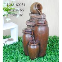 Quality Outdoor Large Household Ceramics Polyresin Water Fountain Pot Design 22.5 X 22.5 X 42 Cm for sale