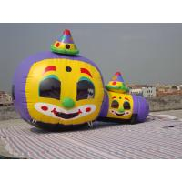Quality Customized Inflatable Tunnel Maze / Pumpkin-Shaped Tunnel Games for sale