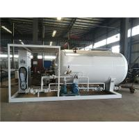 Quality LPG Propane Butane Gas Tank , Q345R Carbon Steel Gas Filling Plant With Dispenser for sale