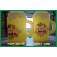 Quality Yellow Color  Custom Inflatable Products Giant Inflatable Beer Cup For Events for sale