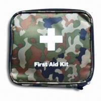 China First-aid Kit with CE and FDA Approvals, Includes Nylon Pouch, Suitable for Travel and School on sale