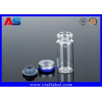 China Steroid Small Glass Vials  With Caps  Little Glass Bottles With Corks For Liquid on sale