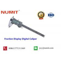 Quality Fraction Display Digital Caliper with Fine-adjusted Roller for sale
