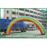 7mL X 4mH Giant Inflatable Entrance Arch / Rainbow Arch Oxford Cloth for Event
