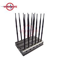 Buy cheap 71W High Power Mobile Phone Signal Jammer With 5-8W Each Band Block 70M Coverage from wholesalers