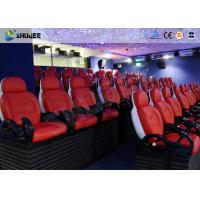 Quality Large Screen 5D Movie Theater Black / White Color Seats For Amusement Park for sale