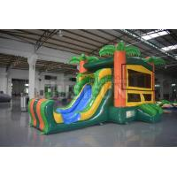 Buy cheap detachable banner tropical bouncer module inflatable jumping castle slide combo from wholesalers