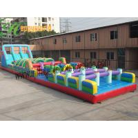 Quality Waterproof Colorful Giant Inflatable Obstacle Course party rentals for fun for sale