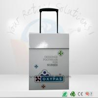 Buy Glossy Lamination Cardboard Trolley With Handle And Wheels For Exhibition Promotional at wholesale prices