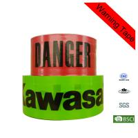 Quality 300m Red and Green PE Barrier Hazard Warning Tape with Printing for Traffic for sale